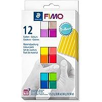 FIMO - Pasta modellabile morbida in forno, astuccio in cartone con 12 colori assortiti