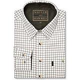 Walker and Hawkes Mickleton - Camisa de Manga Larga para niño - 100% algodón - Estilo leñador - Estampado a Cuadros