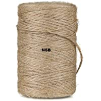 Jute Twine String 250 mtr 2 Ply Strong Thick Jute Rope 820 feet 2 Ply Thick and Strong for Craft and Grossery