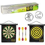 Idena 40462 Dartspel met 2 dartschijven en 6 magnetische pijlen, tweezijdig bespeelbaar, voor binnen en buiten
