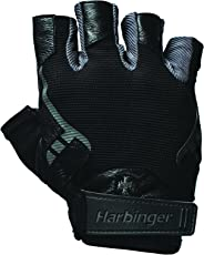 Harbinger Pro Non-WristWrap Vented Cushioned Leather Palm Weightlifting Gloves Pair