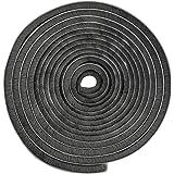 Zelfklevende borstelafdichting, 5 m, winddicht, stofdicht, afdichtingsborstel, grijs, zelfklevend, 9 x 9 mm, voor schuifdeure