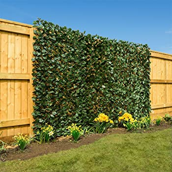 Christow Artificial Leaf Hedge Screening Garden Expanding Trellis Privacy  Screen 1m X 2m