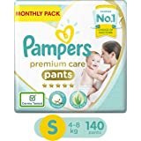 Pampers Premium Care Pants Diapers, Small, 140 Count