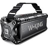 50 W (70 W piek) Bluetooth-luidspreker, W-KING draagbare draadloze buitenluidsprekers, 24 uur speeltijd, 8000 mAh batterij po