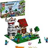 LEGO 21161 Minecraft CajaModular3.0, Juguete de Construcción, Castillo Fortaleza Granja Set con Figuras de Steve, Alex y Cr