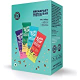 Yogabar Breakfast Protein Variety (Almond Coconut, Apricot & Fig, Blueberry, Apple Cinnamon Bars - 300gm, 6 x 50 g (Box…