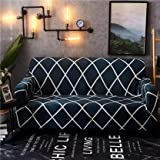 House of Quirk Universal Four Seater Sofa Cover Big Elasticity Cover for Couch Flexible Stretch Sofa Slipcover (Four Seater,