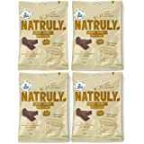 NATRULY Beef Jerky Original, Carne Seca 100% Vacuno, Sin Gluten, Sin Lactosa, Sin Azúcar, Sin Aditivos Artificiales -Pack 4x2