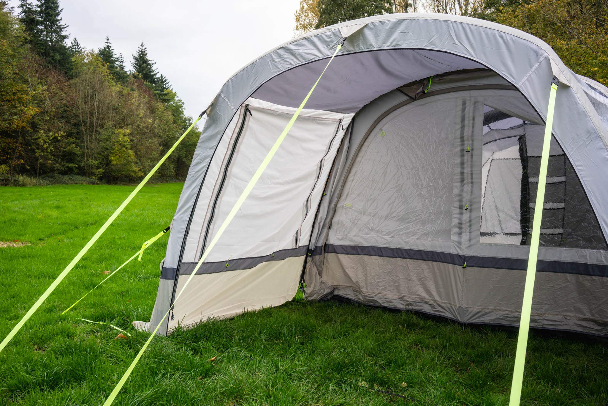 OLPRO Outdoor Leisure Products Cocoon Extension 3.5m x 1.8m Inflatable Drive Away Campervan Awning Porch Extension for Cocoon Breeze Sage Green & Chalk 6