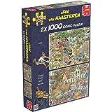 Jumbo 19001 - Jan van Haasteren - Der Sturm und Die Safari Puzzle, 2 x 1000 Teile