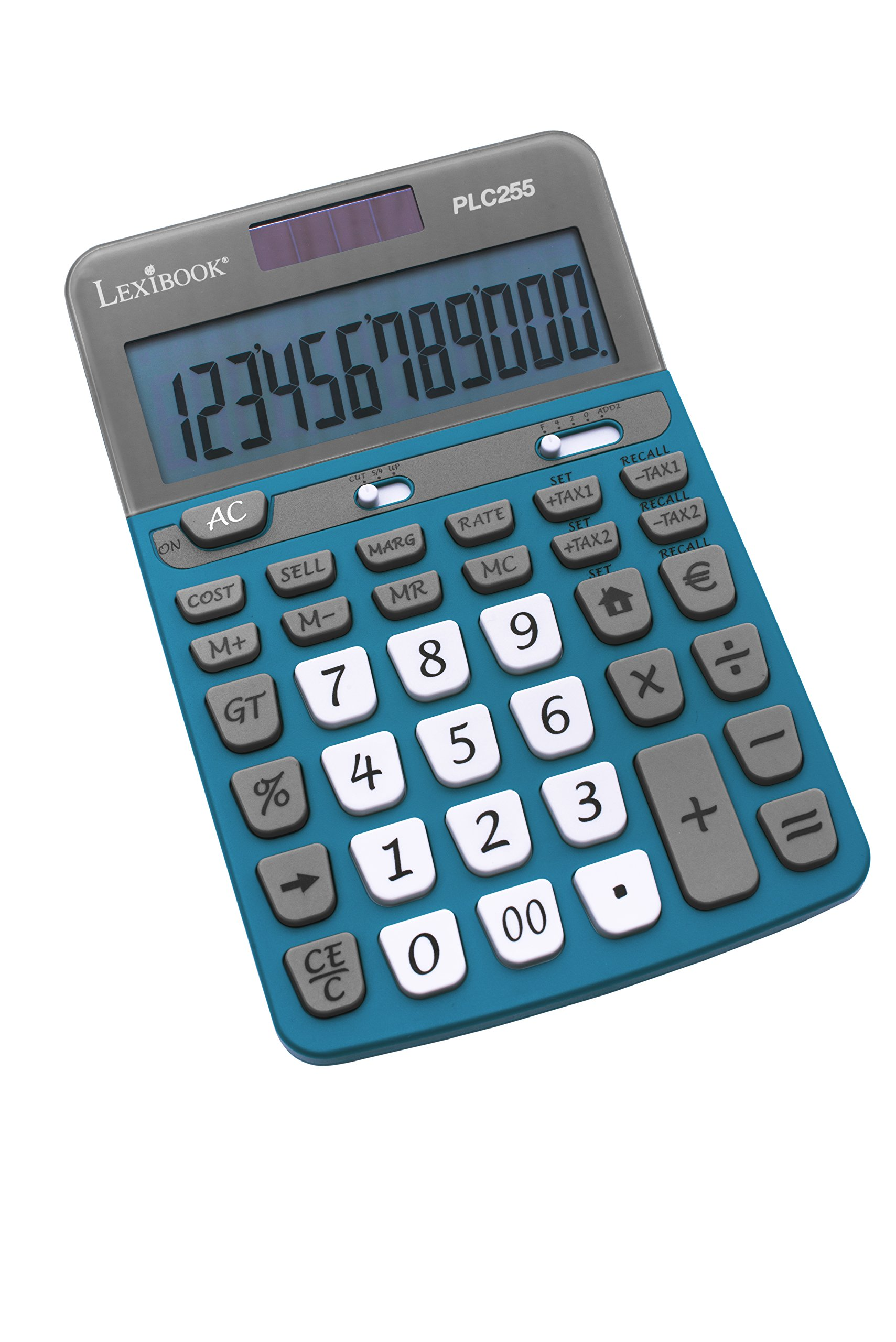 Lexibook PLC255 - Calcolatrice con Schermo a 12 Cifre, Funzioni tradizionali/avanzate/commerciali, C