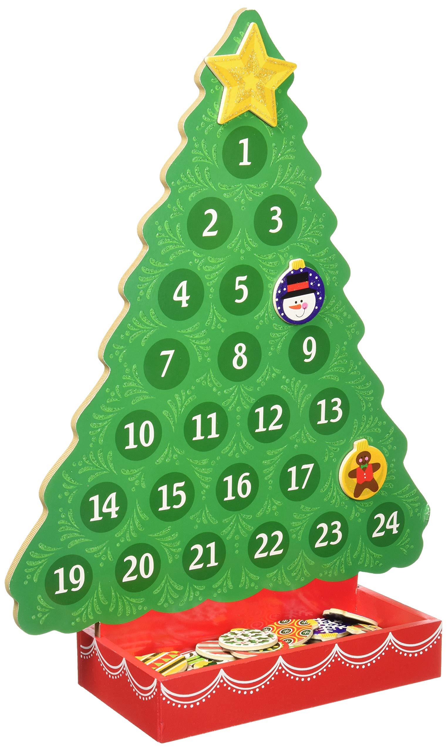 Natale Calendario.Melissa Doug 13571 In Attesa Del Natale Calendario Dell Avvento Di Legno Giochi Legno