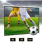 Todeco Écran pour Projecteur, Ecran de Projection, 200 x 200 cm, Matériau: Acier, Dimensions du produit replié: 210 x 200 x 7