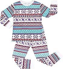 Charmo Unisex Schlafanzug Halloween Baumwolle Langarm Zweiteiliger Schlafanzug Kinder Pajama 2-7 Jahre