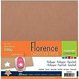 Vaessen Creative Papier Cartonné Florence Kraft, 20 Feuilles, 30,5 x 30,5 cm, 300 GSM, Parfait pour Le Scrapbooking, Création