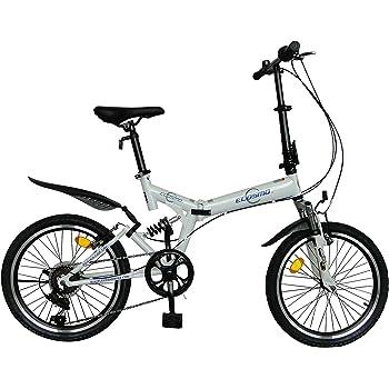 ECOSMO 20SF02W - Bicicleta plegable (suspensión, 6 velocidades)