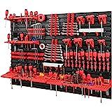 Gereedschapswand -1152 x 780 mm – set gereedschapshouders met gatenwand, opslagsysteem, gereedschapswand, wandrek, werkplaats