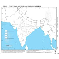 Map Of India- New Jammu-Kashmir And Ladakh Borders Highlighted| Best for Practices & Exams| Big Size| Combo Pack Of 100…