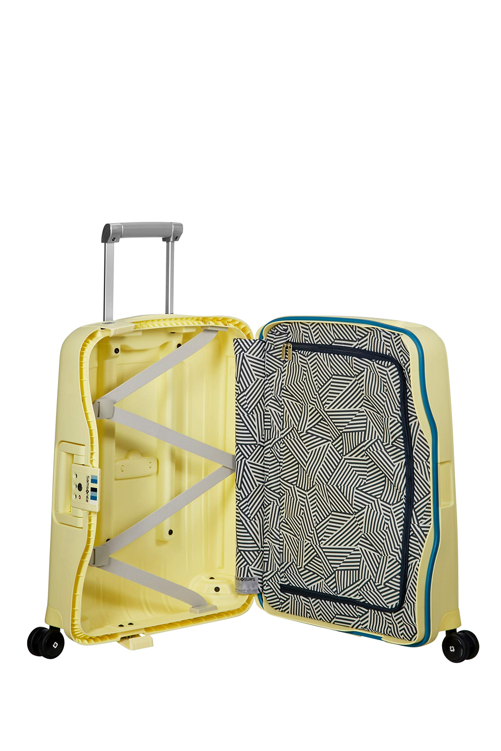 Pastel Yellow Stripes Spinner Equipaje de Mano 55 Centimeters 34 Amarillo Samsonite SCure