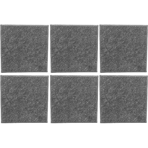 6 pannelli fonoassorbenti acustici in fibra di poliestere Pannello fonoassorbente ignifugo per studi di registrazione(Grigio)