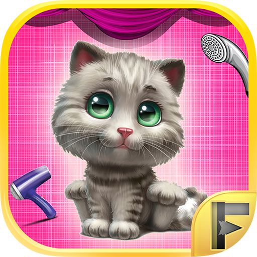 My Little Pet Kitty Cat Makeover Spa Wash Clean & Dress Cute Kittens