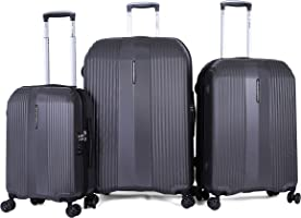 Diplomat Luggage Trolley Bags 3 pieces , Silver - 15182