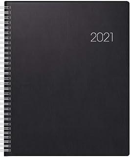 Korsch Praxistimer Balaton schwarz A4 Großer Buchkalender Terminkalender 2021