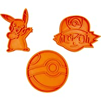 Set tagliabiscotti dei Pokemon (Ash, Picachu e Pokeball)
