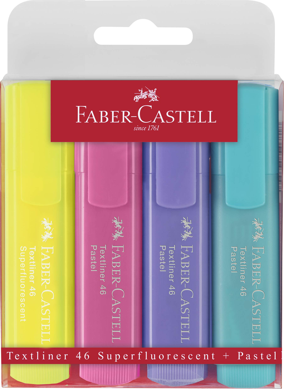 Estuche con 4 marcadores fluorescentes tonos pastel Textliner 1546, colores surtidos