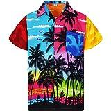 Funky Camisa Hawaiana Señores | XS -6XL | Manga Corta | Bolsillo Delantero | impresión De Hawaii| Diseños de Playa únicos