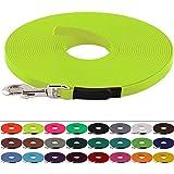 BioThane Schleppleine für Hunde 15-25kg, 13 mm breit, ohne Handschlaufe, bis zu 30 Meter Länge, genäht, in vielen Farben