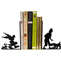 HeavenlyKraft Comic Character Decorative Metal Bookend Non Skid Book End Book Stopper for Home/Office Decor/Shelves 5.9…