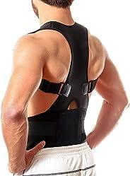 Back Brace Posture Corrector - Medical Grade Fully Adjustable Support Brace - Improves Posture and Provides Lumbar Support -