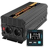 EDECOA Convertisseur 12v 220v onduleur 2000w nouvelle télécommande 2x USB transformateur de tension onde sinus modifiée ondul