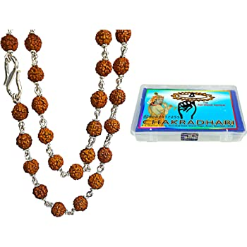Buy CHAKRADHARITM Pure Silver Capping RUDRAKSHA MALA 4 5 MM