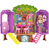 Barbie Chelsea Doll and Treehouse Playset for Girls, 3 Years and Above - FPF83