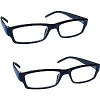 The Reading Glasses Lunettes de Lecture Noir Léger Confortable Lecteurs Valeur Set de 2 Hommes Femmes RR32-1 +1,00