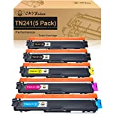 CMYBabee Compatible Toner Cartridge Replacement for Brother TN241 TN245 TN242 TN246 for DCP-9020CDW DCP-9015CDW HL-3140CW HL-3150CDW HL-3170CDW MFC-9130CW MFC-9140CDN MFC-9330CDW MFC-9340CDW (5 Pack)