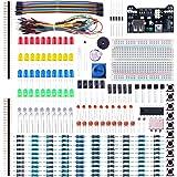ELEGOO Kit de Componentes Electrónicos con Placa de Prototipos, Resistencias, Leds, Condensadores, Potenciómetro, para Kit de