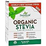 Sweet Leaf Sweetener - Organic - Stevia - 70 Count- 95%+ Organic - Use Sweetleaf in Place of Sugar, 2 Ounce