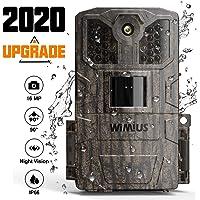 WiMiUS Wildkamera, 16MP 1080P HD Wildkamera mit Bewegungsmelder Nachtsicht, Wildtierkamera mit 940 nm IR-LEDs 20m und IP66 Wasserdicht Jagdkamera, für Tierbeobachtung und Heimüberwachung
