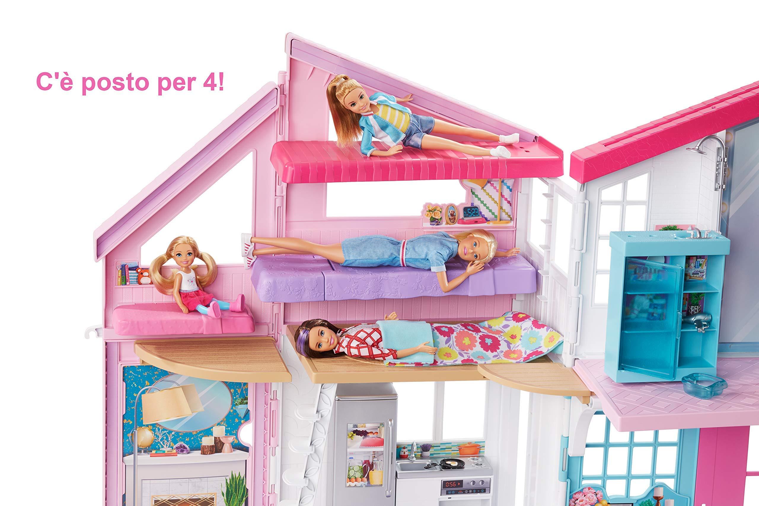 Barbie- La Nuova Casa di Malibu, Playset Richiudibile su Due Piani con Accessori, 61 cm, Giocattolo per Bambini 3+ Anni… 4 spesavip