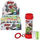 ColorBaby - Pack 36 pomperos de jabón, pompero Avangers, 60 ml, pomperos superhéroes, pompas de jabón niños, juguetes Avanger