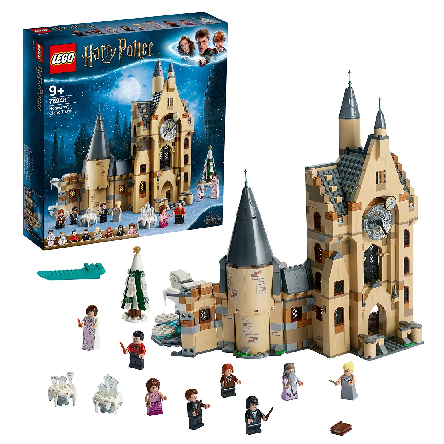 LEGO Harry Potter – Torre del Reloj de Hogwarts, Set de Construcción Compatible con los Sets del Sauce Boxeador y el Gran Comedor (75948)