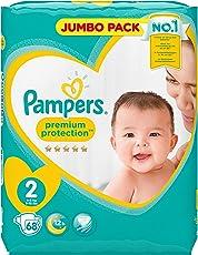 Pampers Premium Protection Windeln Jumbopack, Gr. 2 Mini (4-8 kg), 1er Pack (1 x 68 Stück)