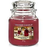 Yankee Candle Geurkaars in glas (medium) | Christmas Morning Punch | Brandduur tot 75 uur