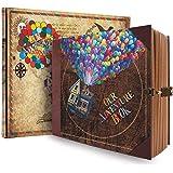 COMBIUBIU Scrapbooks, Albums Photo DIY, Agendas, Cadeaux Créatifs, 22cmx19.5cm 146 Pages Anniversaire/Mariage/Saint Valentin/