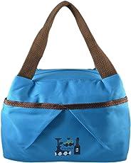 INSTABUYZ Insulated Zipper Leak-Proof Lunch Bag, 7L (BLUE)