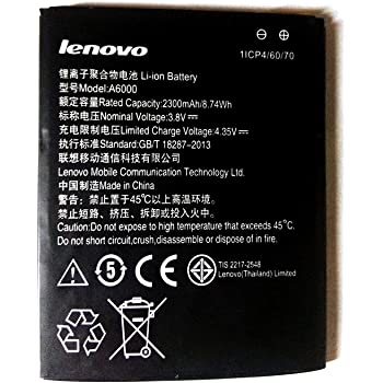 Scotch Brite Erd Battery For Lenovo A6000 Amazon In Electronics